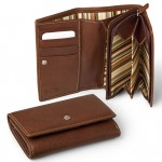 Bi-Fold Clutch in Vegetable Tanned Leather