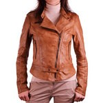 Rich Vintage Look Brown Leather Jacket