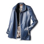 Quality Leather Jackets for Women in Blue