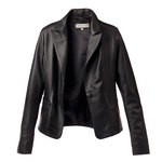 Classic Black Leather Blazer