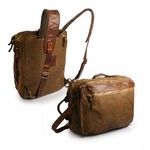 Campomaggi Bag in Canvas and leather, Backpack to Shoulder Bag