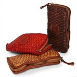 Woven washed leather Campomaggi Wallet