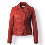 Women's Cropped Italian Leather Jacket