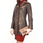 Brand new designer coat Chocolate Coloured