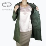 Women's Reversible Leather Coat