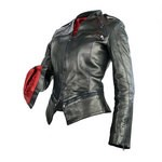 Fitted Italian Leather Jacket for Women