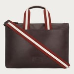 Tigan Leather Business Bag Brown
