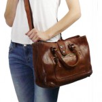 Washed Leather Tote Bag