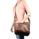 Washed Leather Shoulder Bag