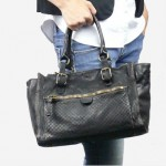 Multi-pocketed Distressed Leather Tote Bag