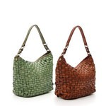 Woven Leather Hobo Bag