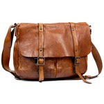 Briefcase in Distressed Leather