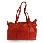 Tote Bag in Washed Vacchetta Leather