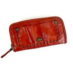Zip Around Washed Leather Wallet by Campomaggi