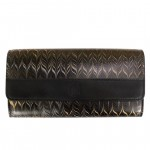 Cuoiofficine Flap Over Wallet for Women in Marbled Leather