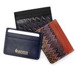 Cuoiofficine Card Holder Unisex in Marbled Leather