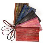 Cuoiofficine Wrist Pochette for Women in Marbled Leather