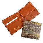 Cuoiofficine Wallet with Coin Case for Men in Marbled Leather