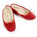 Porselli Ballet Flat - Red Suede