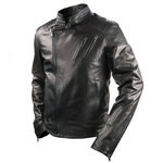 Biker Jacket with Zip for Men