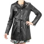 Coat Three Quarter Length with Belt for Women
