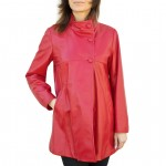 Coat Three Quarter Length with Buttons for Women