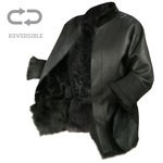 Coat in Shearling, Three-quarter length for Women - Reversible