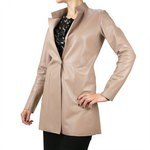 Coat with Fitted Waist - Unlined for Women