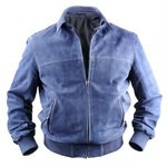 Bomber Jacket with Zip - Suede - For Men