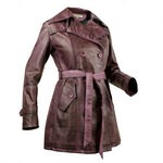 Trench Coat Three Quarter Hand Painted for Women