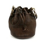 Campomaggi Small Cross Body Drawstring Woven Leather Bag - 006490ND