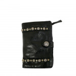 Campomaggi Washed Leather Wallet with Rivet Detailing - 007530ND
