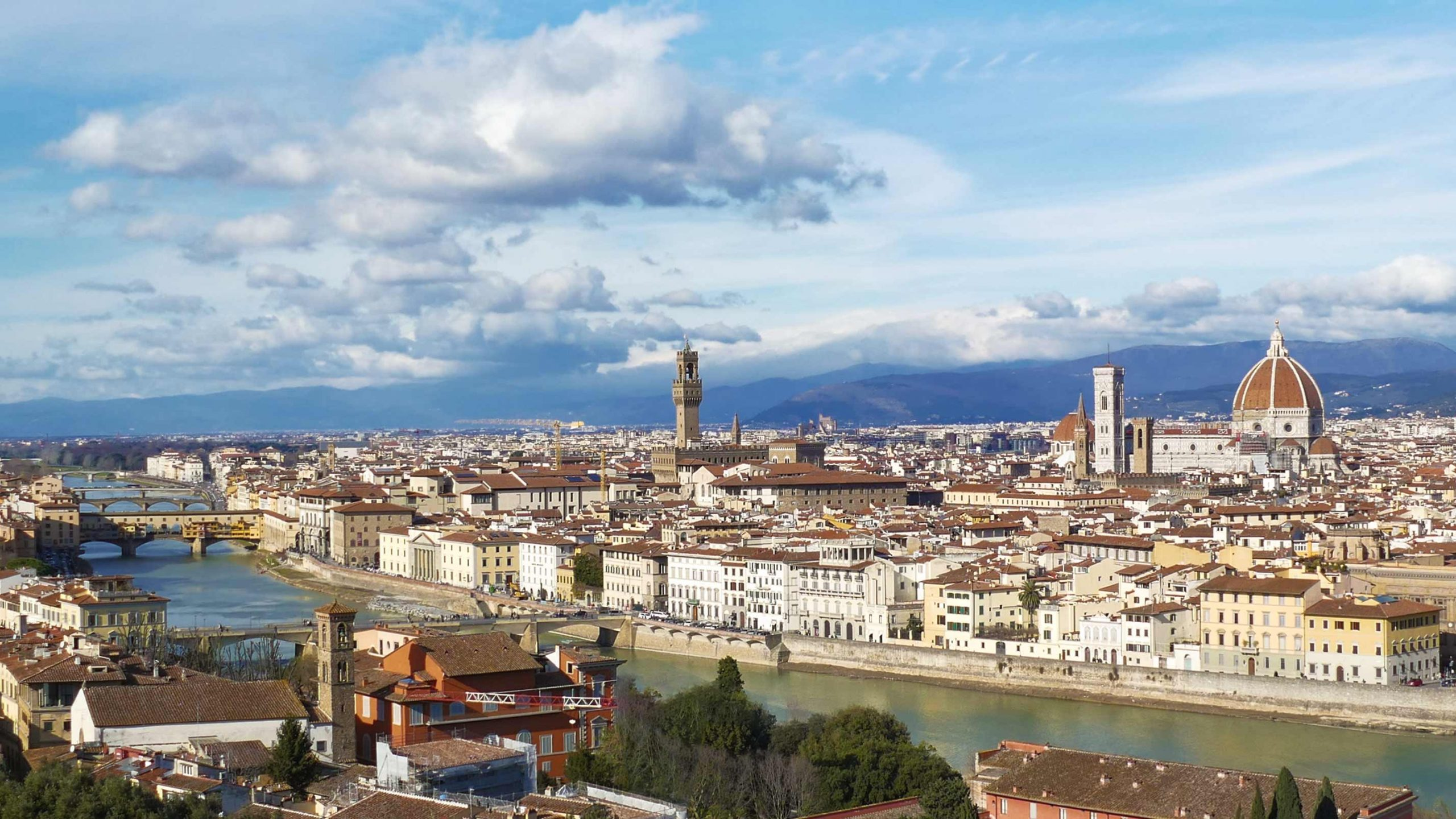 Florence Italy Panorama - Genuine Leather Goods