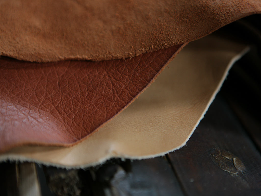Vegetable Dyed Leathers in Tuscany Italy