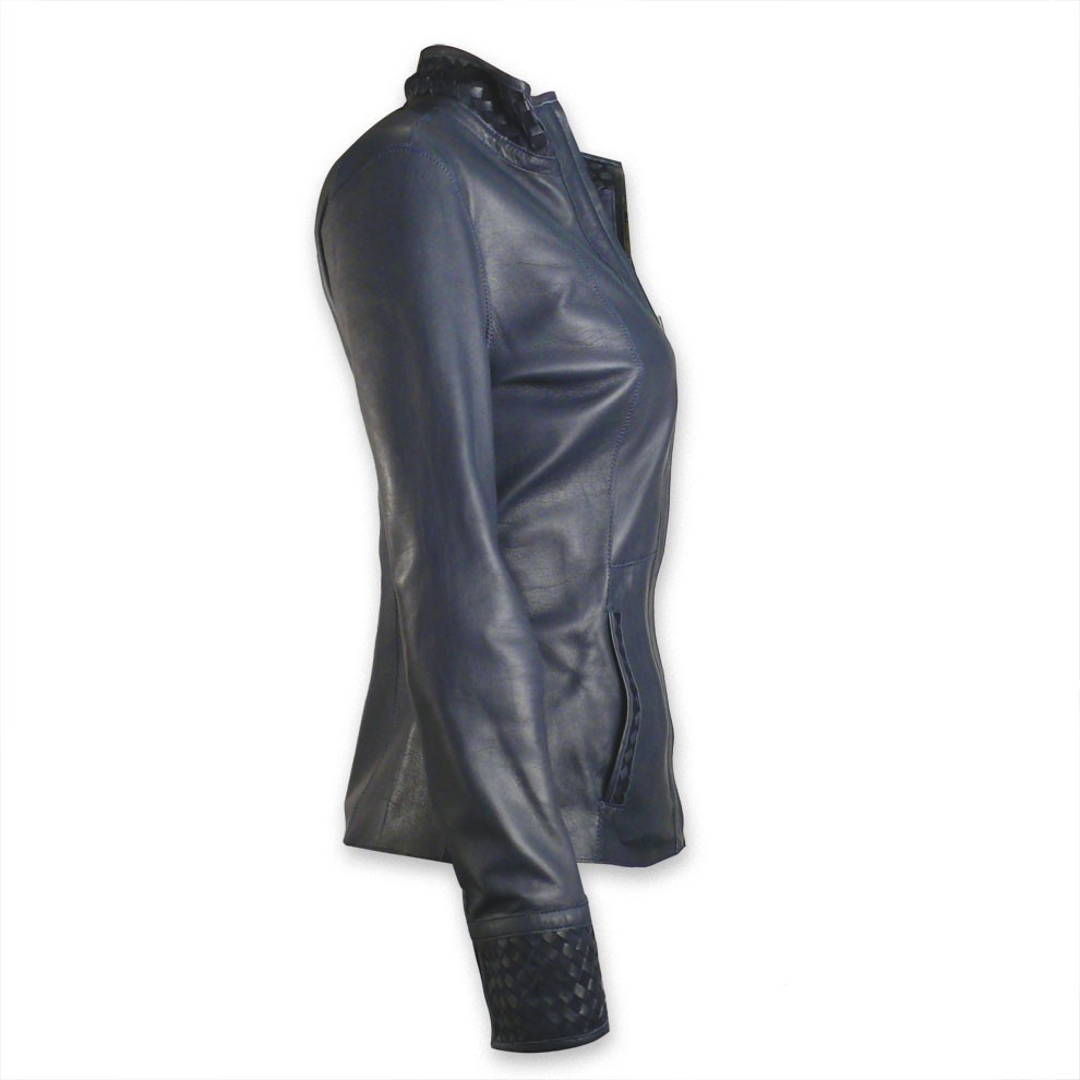 Leather And Suede Reversible Blazer For Women Made In