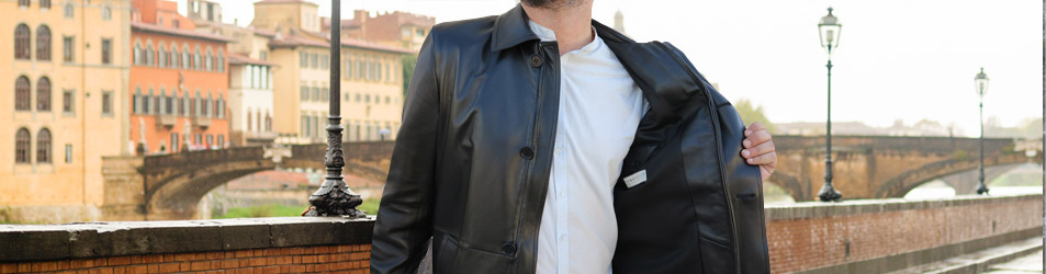 Fashionable Leather Apparel Made In Italy