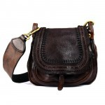 Leather Small Crossbody Bag with Laser Cut - Corallo by Campomaggi  C008880ND