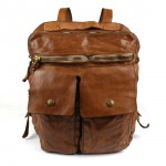 Natural Cowhide Leather Backpack - Bronzite by Campomaggi C008980ND