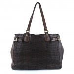 Leather Tote & Crossbody Bag in Laminated Weave - Edera by Campomaggi C008760ND