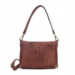 Ladies Woven Shoulder Bag with Flap, Campomaggi C011490ND