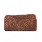 Leather Zip Around Optical Woven Wallet - Edera by Campomaggi C000100ND X0431