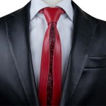 Men's Deerskin and Crocodile Leather Tie GM-CV04