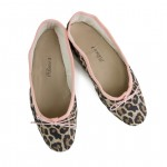 Porselli Ballet Flat - Leopard suede with Pink Trim PO-DS-C18-12