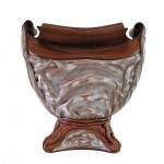 Leather Molded Art Vase La Medusa Handcrafted in Tuscany GM-VASO06