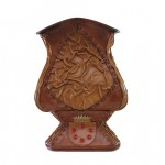 Leather Vase Handmade in Italy GM-VASO07