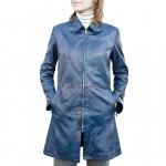 Leather Single Breasted Coat for Women Made in Italy AB406-NA
