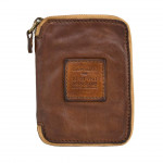 Vintage Leather Zip-around Wallet Coin Pocket Leather by Campomaggi C014550ND