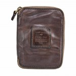 Zip Around Unisex Wallet Coin Pocket Leather Made in Italy C002060ND