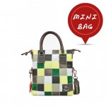 Mini Me Leather Patchwork Tote Collection - Green 4851-PW4