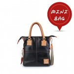 Mini Me Bag Leather Solid Color Tote Collection - Black 4851-PE2